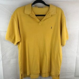Yves Saint Laurent YSL Large Yellow Polo Shirt